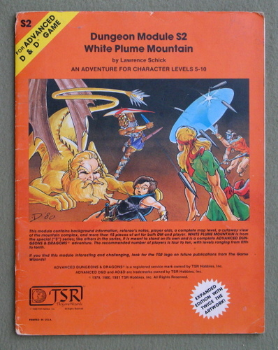 White Plume Mountain (Advanced Dungeons & Dragons module S2) - PLAY COPYPLAY COPY, Lawrence Schick & Gary Gygax