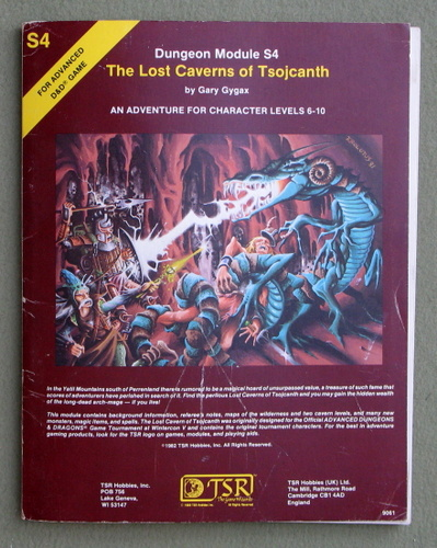 The Lost Caverns of Tsojcanth (Advanced Dungeons & Dragons module S4), Gary Gygax