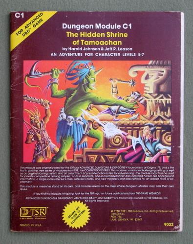 Hidden Shrine of Tamoachan (Advanced Dungeons & Dragons Module C1) - PLAY COPY, Harold Johnson & Jeff R. Leason