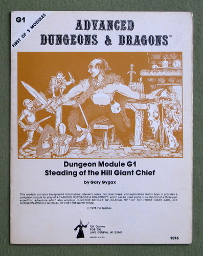 Steading of the Hill Giant Chief (Advanced Dungeons & Dragons Module G1), Gary Gygax