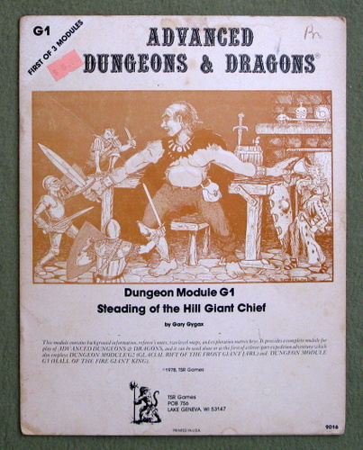 Steading of the Hill Giant Chief (Advanced Dungeons & Dragons Module G1) - PLAY COPY, Gary Gygax