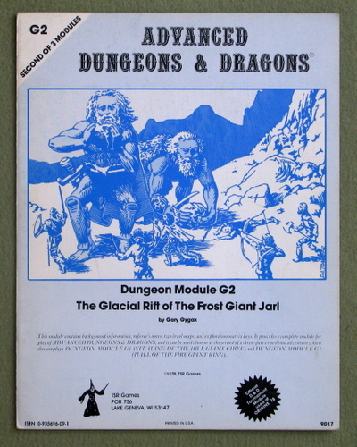 The Glacial Rift of the Frost Giant Jarl (Advanced Dungeons & Dragons Module G2), Gary Gygax