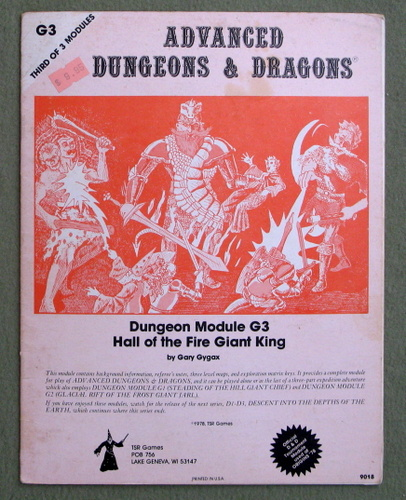 Hall of the Fire Giant King (Advanced Dungeons & Dragons Module G3) - PLAY COPY, Gary Gygax