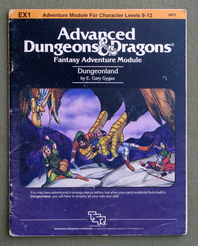 Dungeonland (Advanced Dungeons & Dragons Module EX1) - PLAY COPY, E. Gary Gygax