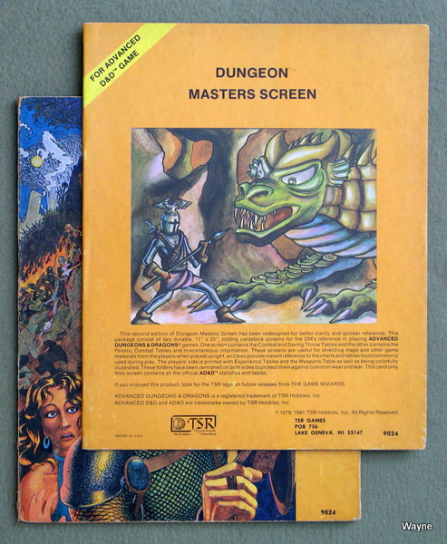 Dungeon Masters Screen (Advanced Dungeons & Dragons, 1st Edition)