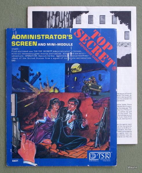 Administrator's Screen & Mini Module (Top Secret RPG) - PLAY SET