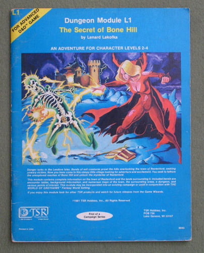 Image for The Secret of Bone Hill (Advanced Dungeons & Dragons Module L1)