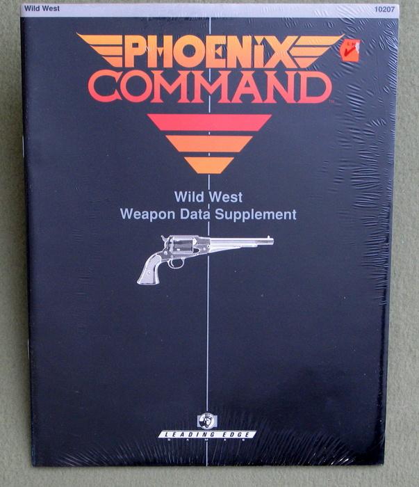 Wild West Weapon Data Supplement (Phoenix Command)
