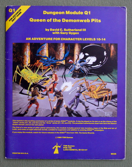 Queen of Demonweb Pits (Advanced Dungeons & Dragons module Q1)