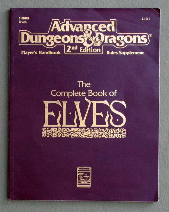 The Complete Book of Elves (Advanced Dungeons & Dragons, Player's Handbook Rules Supplement PHBR8) - PLAY COPY