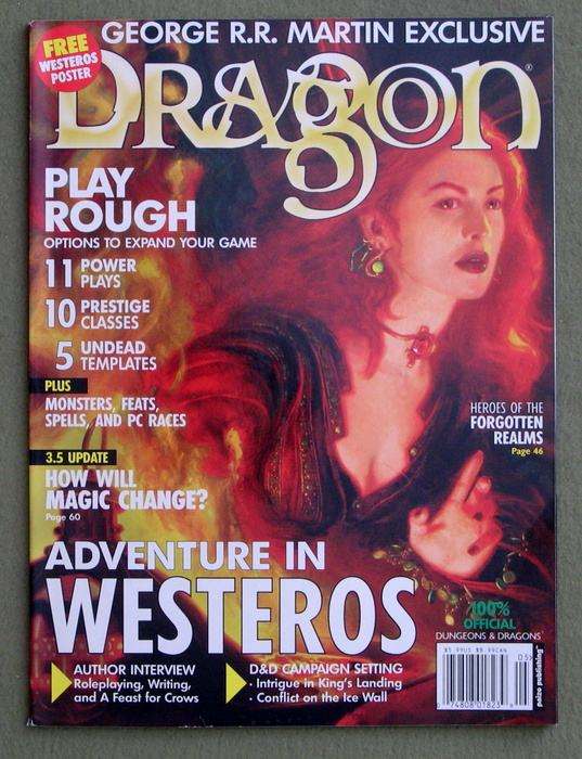 Image for Dragon Magazine, Issue 307 (Game of Thrones Issue) - NO POSTER