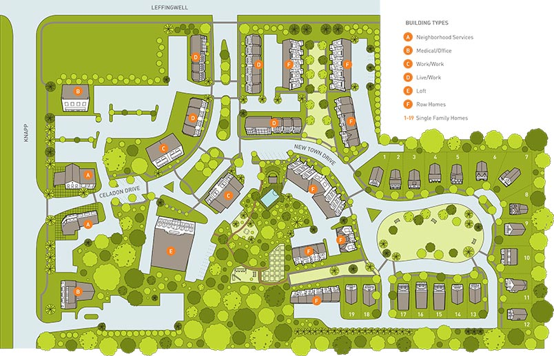 Celadon Site Plan Homes For Sale