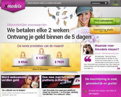 Schrijf je in bij Xmodels het nummer 1 webcam platform in Europa