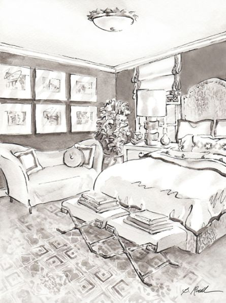 Interior Sketches B Russell Art