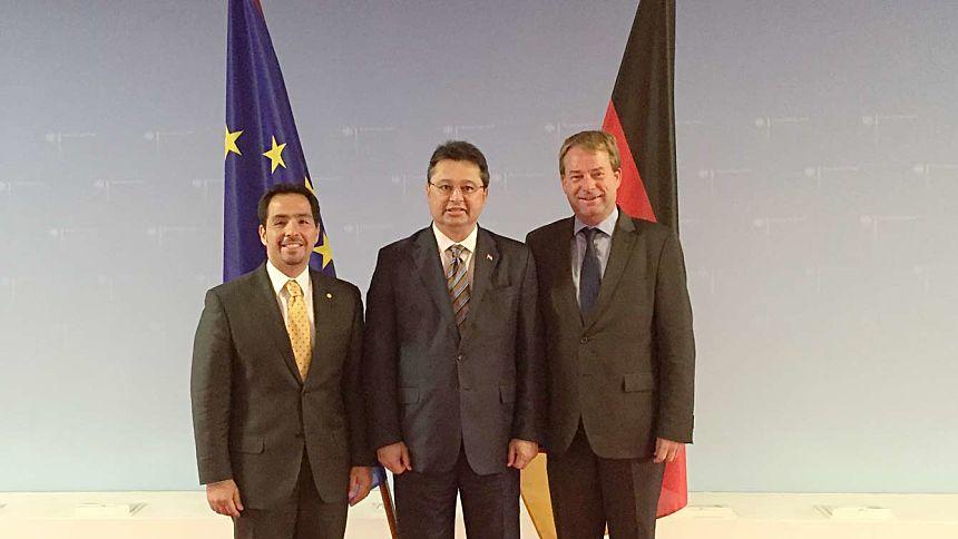 El Embajador Fernando Ojeda acompaña al Ministro Leite en su gira por Alemania