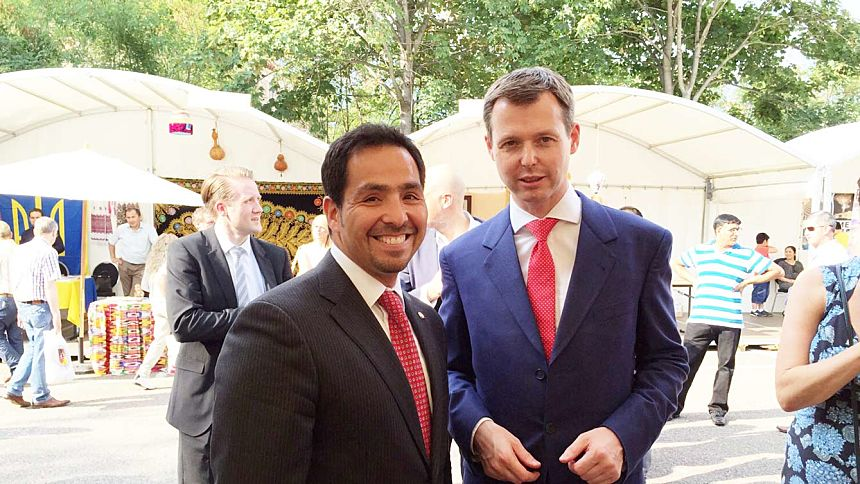 El Embajador Fernando Ojeda y el Secretario de Estado Parlamentario del BMZ, Sr. Thomas Silberhorn