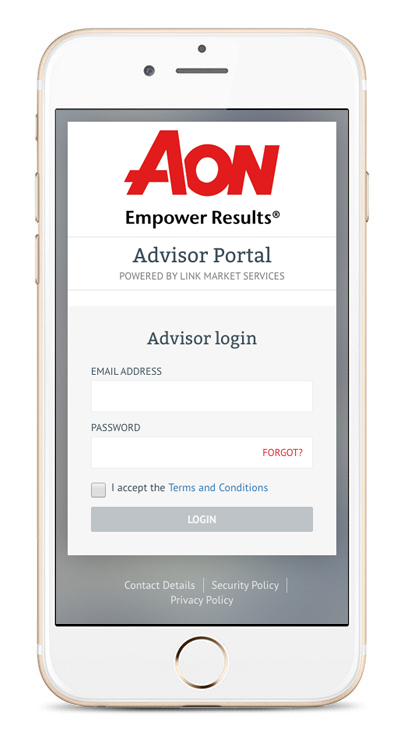 Fund Manager advisor login screen