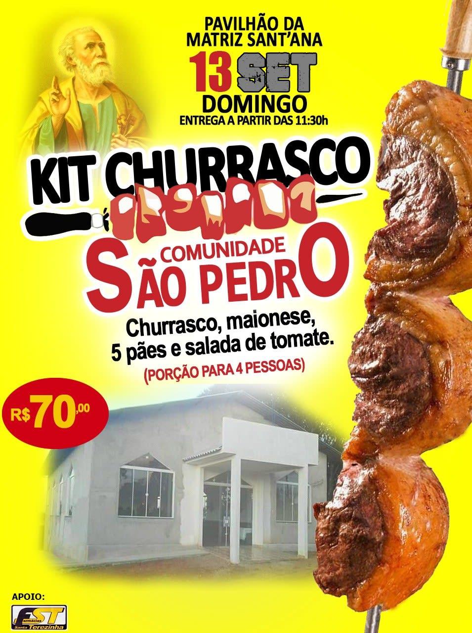 Última semana de vendas dos kits churrasco da festa em louvor São Pedro