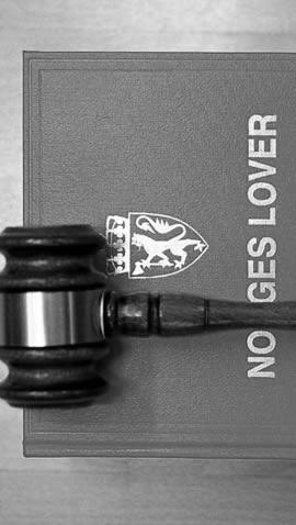 På bildet Norges lover illustrasjon