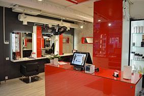 butikkinnredning butikkinteriør i frisørsalong