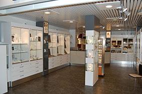 butikkinnredning butikkinteriør i gull forretning