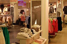 butikkinnredning butikkinteriør i tekstil forretning