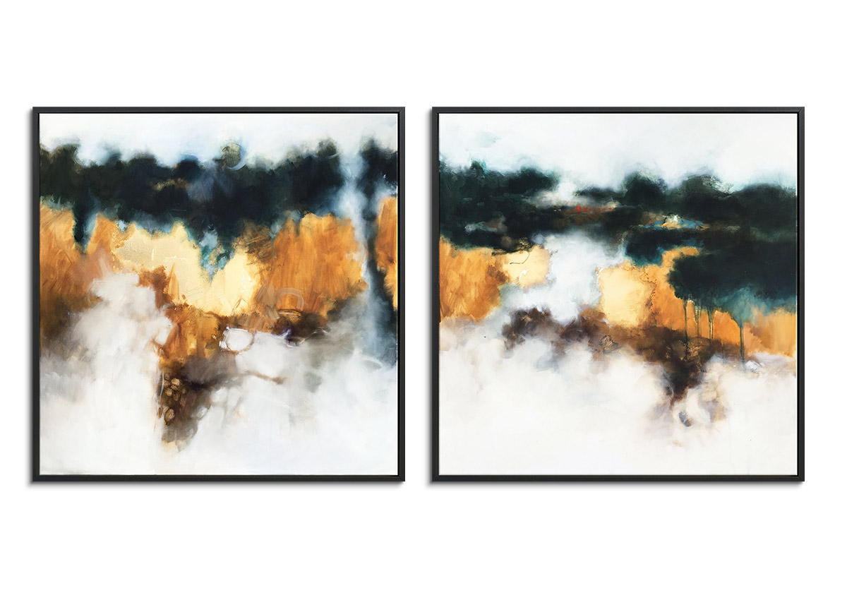 Two Together Diptych by Emir Tai