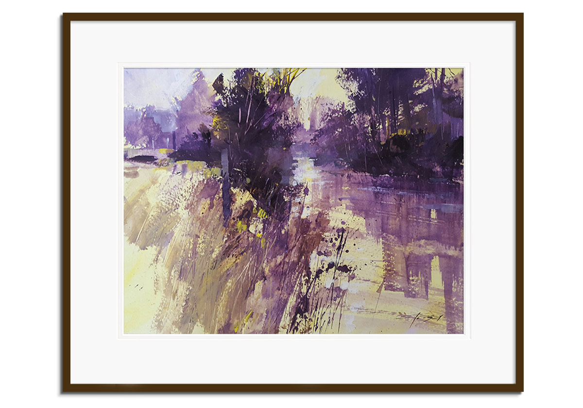 Purple Scape by Chris Forsey