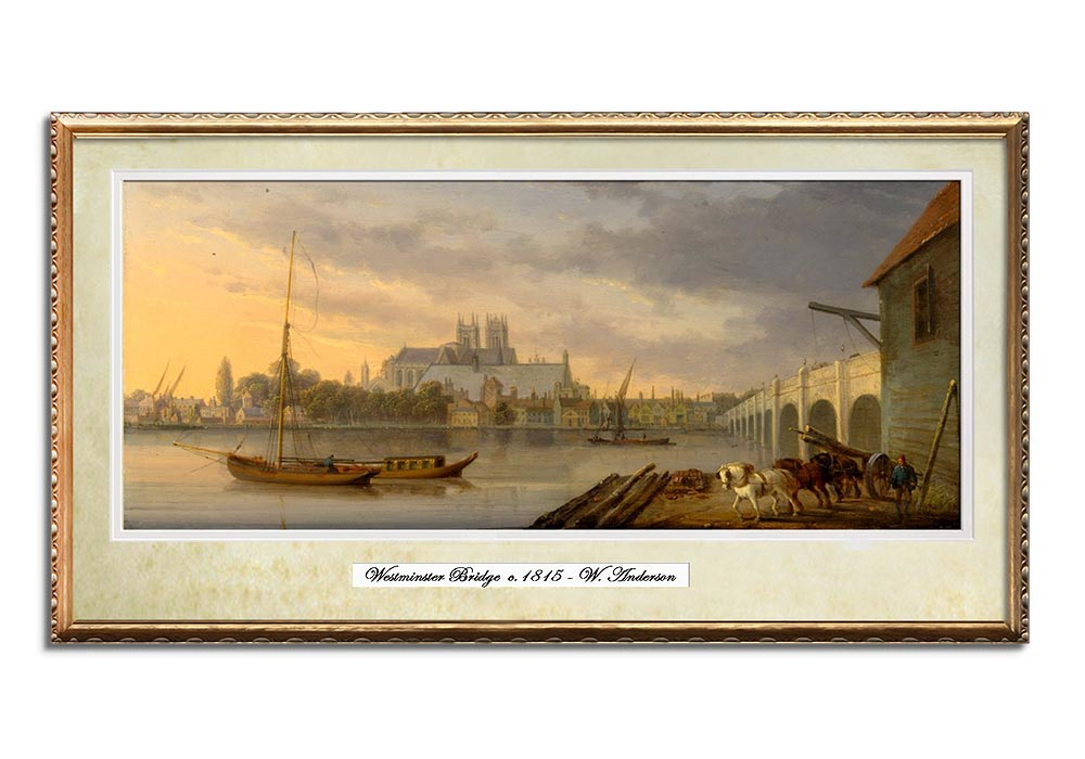 View of Westminster Bridge by William Anderson