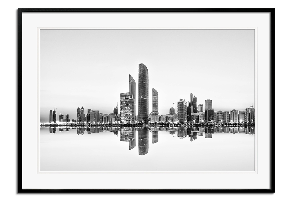 Abu Dhabi Urban Reflection by Akhter Hasan