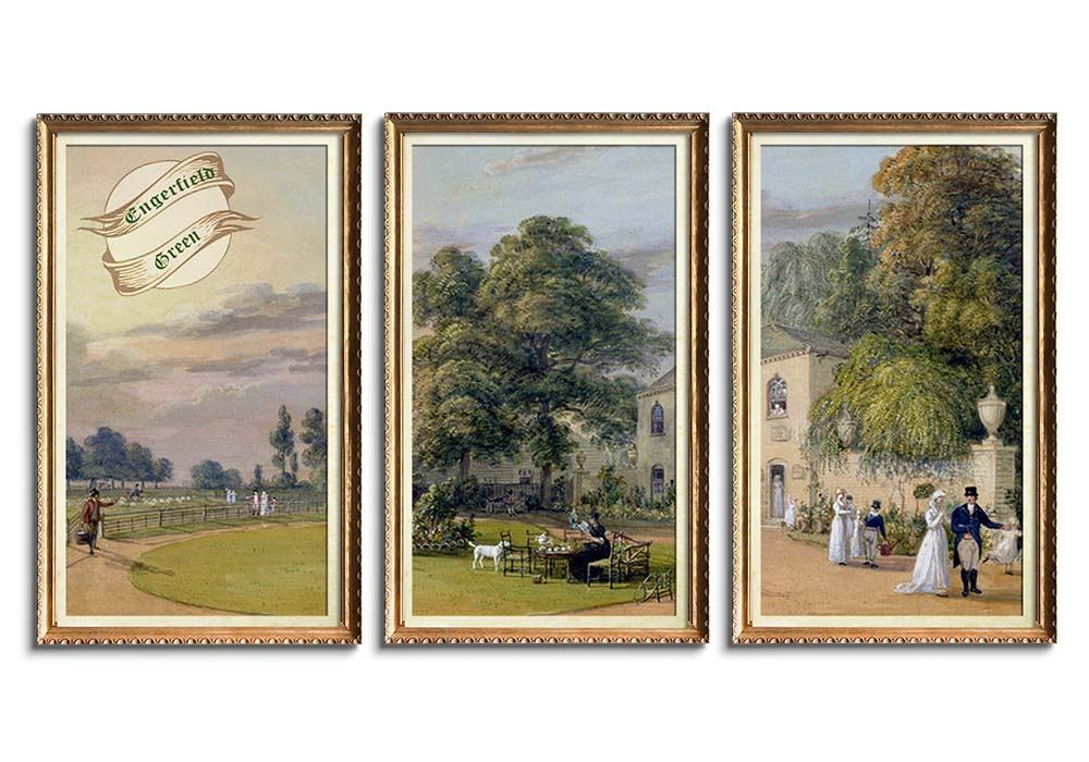Tea at Englefield Green by Paul Sandby