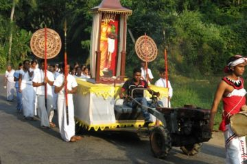 Sri Lanka roadside procession