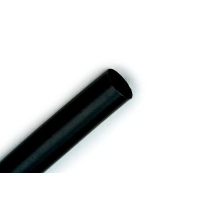 "3M™ FP0.125BK48""L l Flame-Retardant Non-corrosive Heat Shrink Tubing, 1/8 In ID Expanded, 0.062 In ID Recovered, 48 In L, Flexible Polyolefin, Black"