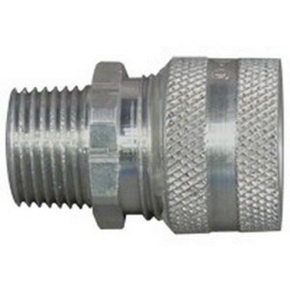 Appleton® CG1850 Strain Relief Straight Cord Connector, 1/2 In Trade, 3/16 To 5/16 In Cable Openings, Aluminum