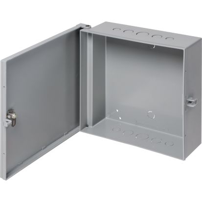 Arlington EB0708 Heavy Duty UV Rated Enclosure Box With Backplate, 8.522 in L x 8.233 in W x 3.812 in D, NEMA 3R NEMA Rating, Plastic