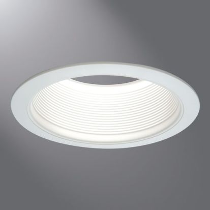 Cooper Lighting 6100WB Baffle Trim, 6 In ID X 8 In OD, Halogen/Incandescent/LED/CFL Lamp