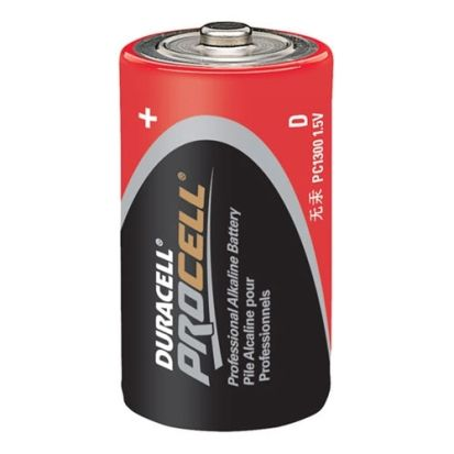 Duracell® Coppertop® MN1300 Cylindrical Battery, Alkaline Manganese Dioxide, 1.5 VDC, 15 Ah, D