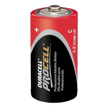 Duracell® Coppertop® MN1400 Cylindrical Battery, Alkaline Manganese Dioxide, 1.5 VDC, 7.8 Ah, C