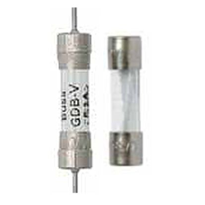 Eaton Bussmann Series AGC-10-R Small Dimension Fast Acting Fuse With Nickel Plated Brass End Caps, 10 A, 250 VAC, 200 A, 10 kA Interrupt, Cylindrical Body