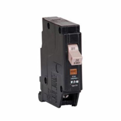 Eaton CHF120 Type CHF Standard Circuit Breaker, 120/240 VAC, 20 A, 10 kAIC, Interrupt, 1 Poles, Mechanical Trip