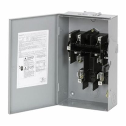 Eaton DG222NRB DG Series Cartridge Fusible General Duty Safety Switch, 240 VAC, 60 A, 3 to 10 hp, 7-1/2 to 15 hp, DPST Contact, 2 Poles