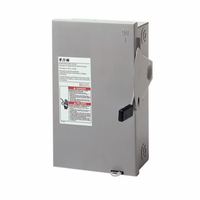 Eaton DG321NGB B Series Cartridge Fusible General Duty Safety Switch With Neutral, 240 VAC, 30 A, 3 to 7-1/2 hp, TPST Contact, 3 Poles