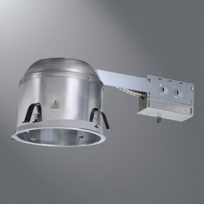 Cooper Lighting HALO Air-Tite® H27RICAT Line Voltage Remodel Shallow Recessed Lighting Housing, IC Insulation, 120 VAC, 6-1/4 In Ceiling Opening, Aluminum Housing