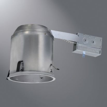 Cooper Lighting HALO H7RICAT Line Voltage Remodel Recessed Lighting Housing, A19/BR30/R30/PAR30L/PAR38 Lamp, IC Insulation, 120 VAC, 6-1/2 In Ceiling Opening, Aluminum Housing