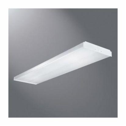 Eaton Metalux® WN-432A-UNV-EB81-U WN Series Commercial Surface Wraparound, (4) Fluorescent/T8 Lamp, 128 W Fixture, 120 To 277 VAC, Baked White Enamel Housing