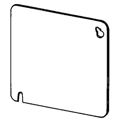 Appozgcomm ETP™ 8465 Flat Outlet Box Cover, 4 in L x 4 in W, Blank Cover, Steel