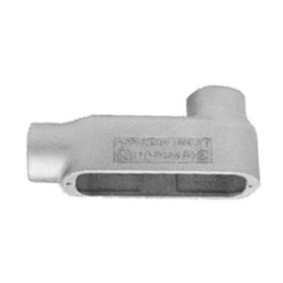 Emerson Electric Appleton® Unilets™ LB100-M Type LB Conduit Outlet Body, 1 In Hub, 35, 12.5 cu-in, Malleable Iron, Triple Coated