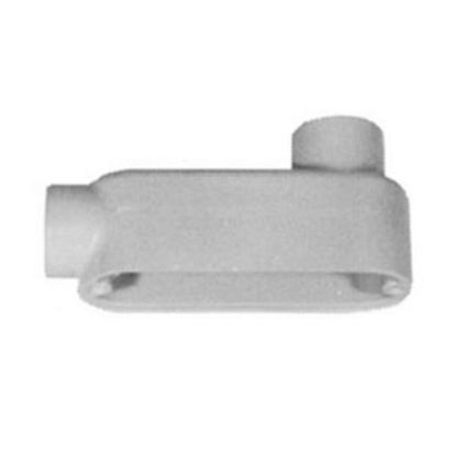 Emerson Electric Appleton® Unilets™ LB100-A Type LB Conduit Outlet Body, 1 In Hub, 85, 11.8 cu-in, Aluminum, Epoxy Powder Coated
