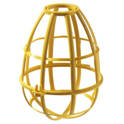Engineered Products EPCO 16100 Heavy Duty Safety Cage, For Use With Incandescent/Compact Fluorescent/LED Lamp, Plastic, Yellow
