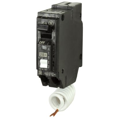 GE Q-Line® THQL1115AF2 Type THQL Arc Fault Circuit Breaker, 120/240 VAC, 15 A, 10 KA Interrupt, 1 Poles, LI/Non-InterchanGEable Thermal Magnetic Trip